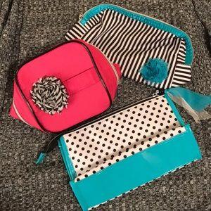 Set of 3 Lancome makeup bags never used